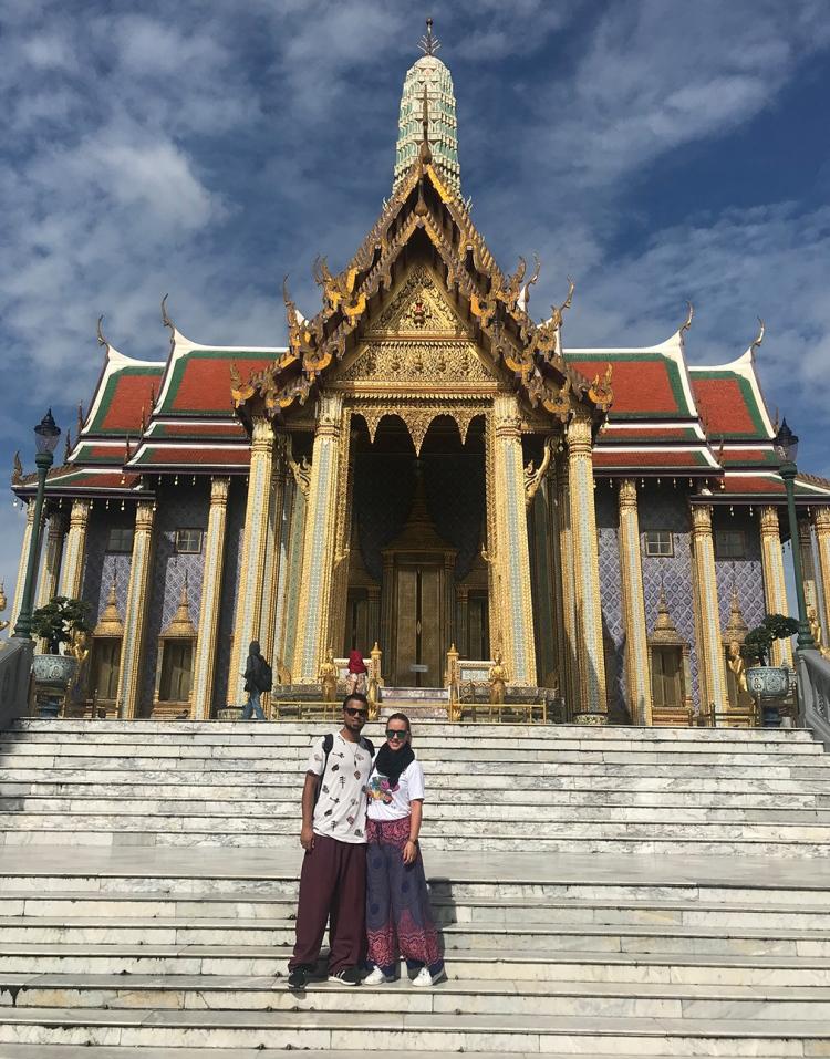 Uno de los templo más bonitos dentro del Gran Palacio de Bangkok.